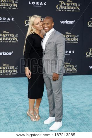 Lindsey Vonn and Kenan Smith at the U.S. premiere of 'Pirates Of The Caribbean: Dead Men Tell No Tales' held at the Dolby Theatre in Hollywood, USA on May 18, 2017.