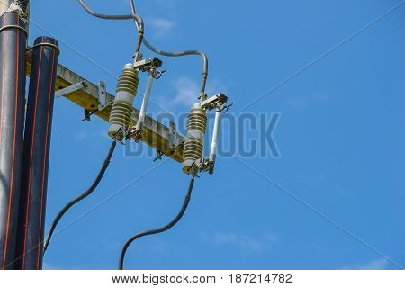 Electric fuse equipment on electrical pole supply