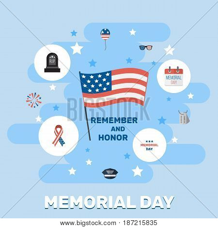 Flat Firecracker, History, Awareness And Other Vector Elements. Set Of Memorial Flat Symbols Also Includes Tomb, Awareness, Cap Objects.