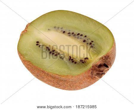 image of one  raw kiwi isolated on white