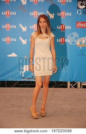 Giffoni Valle Piana Sa Italy - July 21 2014 : Laura Halilovic at Giffoni Film Festival 2014 - on July 21 2014 in Giffoni Valle Piana Italy