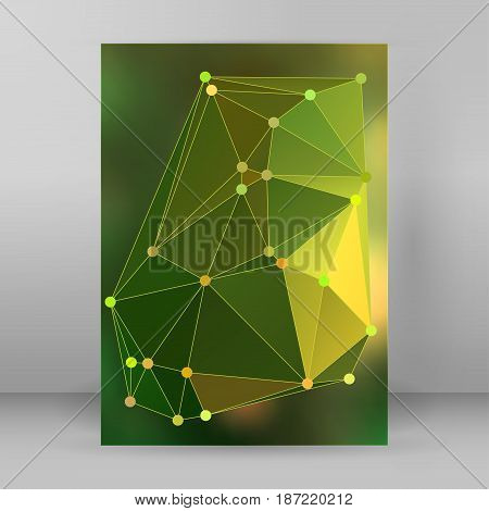 Modern Triangle Background 3D Effect Cover Page Brochure A4 Format29