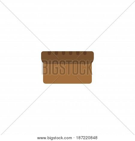Flat Bread Element. Vector Illustration Of Flat Loaf Isolated On Clean Background. Can Be Used As Bread, Loaf And Bakery Symbols.