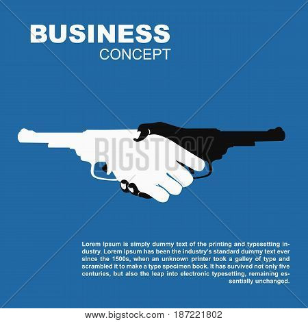 Handshake with the guns. Killing business contract dangerous