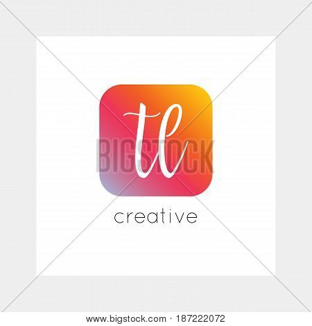 TL logo, vector. Useful as branding, app icon, alphabet combination, clip-art.