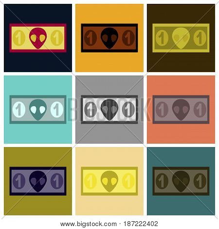 assembly of flat icons business currency cash