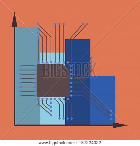 flat icon on stylish background Nanotechnology infographics