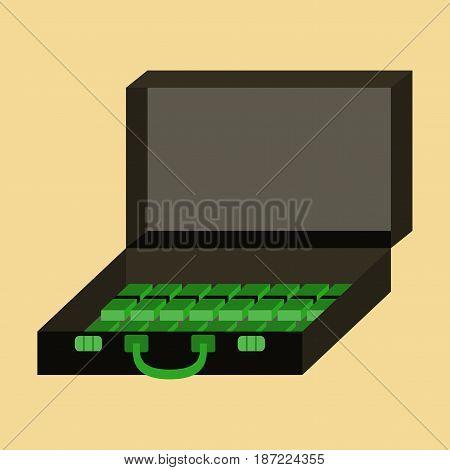 flat icon on stylish background Case of money