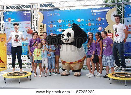 Giffoni Valle Piana Sa Italy - July 16 2011 : Cast Movie Kung Fu Panda 2 at Giffoni Film Festival 2011 - on July 16 2011 in Giffoni Valle Piana Italy