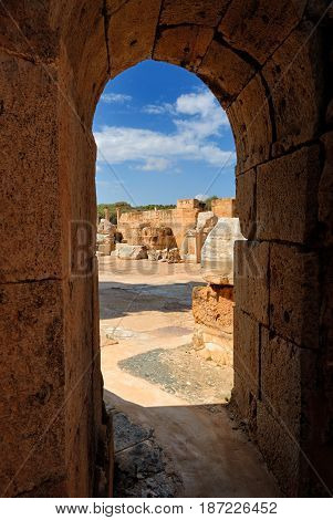 Libya Tripoli Leptis Magna Roman archaeological site Unesco World Heritage Site