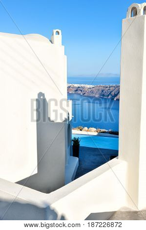 White architecture in Santorini island, Cyclades, Greece