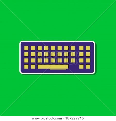 paper sticker on stylish background of computer keyboard