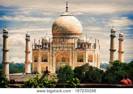 The Taj Mahal Agra Uttar Prades India
