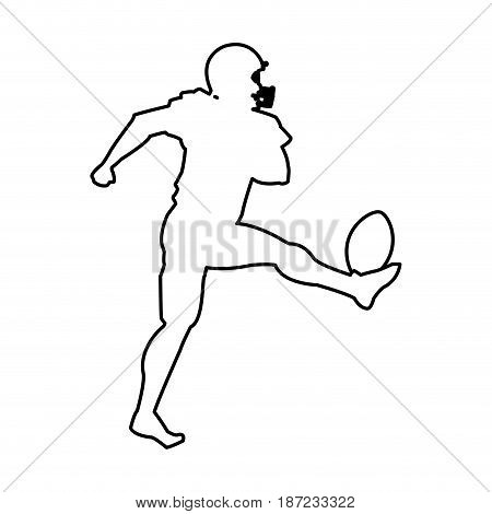 american footbal player silhouette image vector illustration