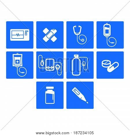 a Collection of flat medical icon vector