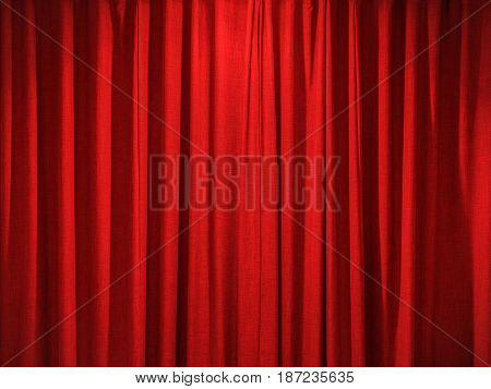 red curtain background with satin cloth texture
