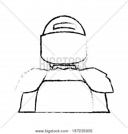 american footbal shoulder pads helmet uniform vector illustration
