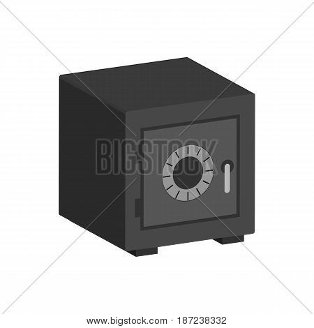 Metal Bank Safe Symbol. Flat Isometric Icon Or Logo. 3D Style Pictogram For Web Design, Ui, Mobile A
