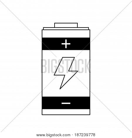 battery charger energy generation symbol line vector illustration