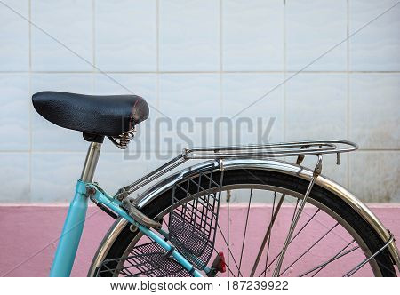 bicycle in focus of driver and passenger saddle.