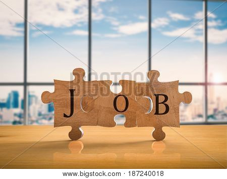 Jigsaw Pieces With Job Concept