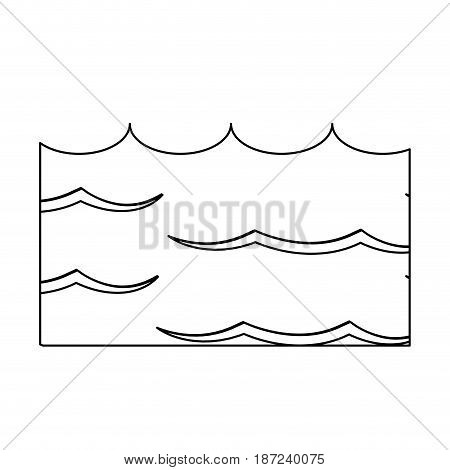 water environment conservation energy save line vector illustration