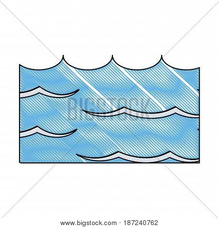 drawing water environment conservation energy save vector illustration