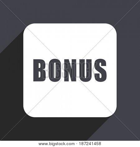 Bonus flat design web icon isolated on gray background