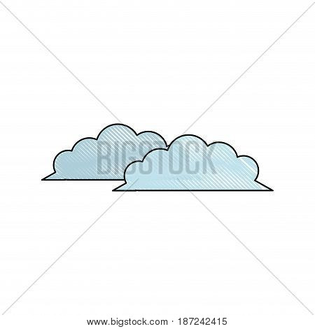 drawing cloud weather climate ecology vector illustration