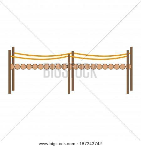 small bridge wooden fantasy fairy tale vector illustration