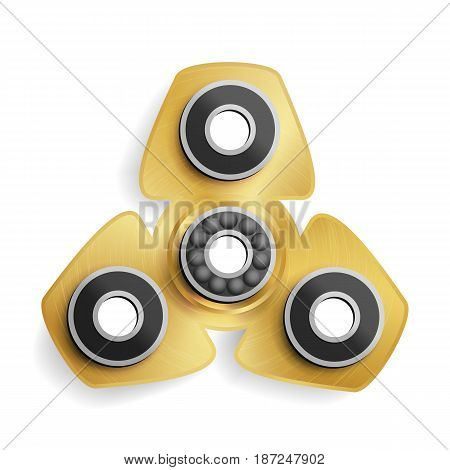 Hand Spinner Toy. Hand Spinning Machine. Rotation. Fidget Finger Spinner Stress, Anxiety Relief Toy. Vector