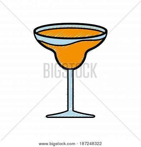 cocktail drink icon over white background. colorful design.  vector illustration
