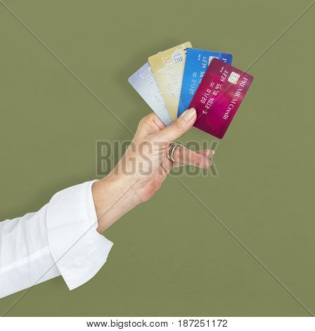 Human Hand Holding Credit Card Luxury Payment