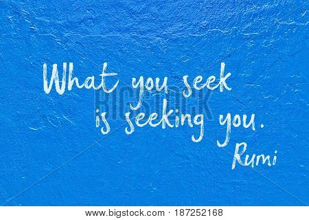 Seek You Blue Rumi