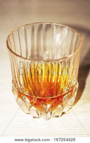 Crystal Glass With Whiskey Dose