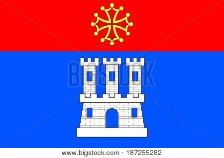 Flag of Castelsarrasin is a commune in the Tarn-et-Garonne department in Occitanie region of France