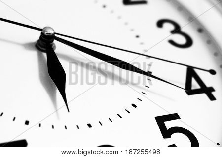 Clock Hands Isolated On A White Background