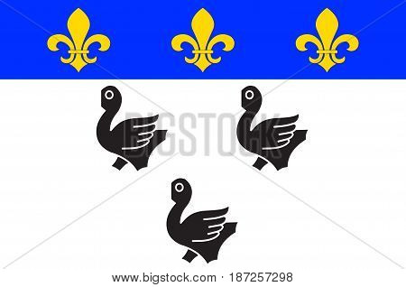 Flag of Laon is the capital city of the Aisne department in Hauts-de-France northern France