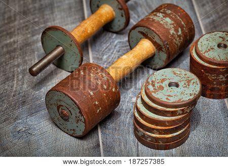 dumbbells for exercise - fitness, bodybuilding, powerlifting