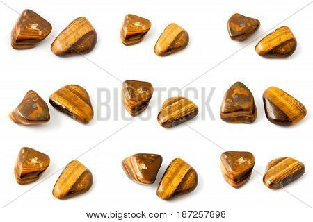 Collection Of Stone Mineral Tiger's Eye