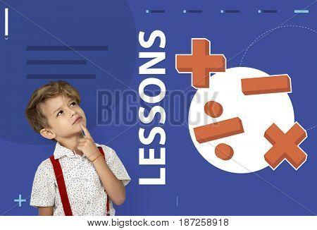 Student solving mathematics solution lessons