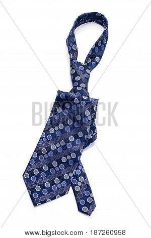 Stylish tie for man isolated on white background