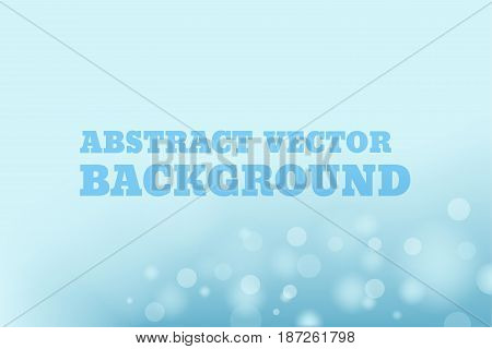 Vector abstract background with blur bokeh light effect