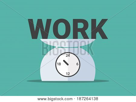work overtime, work on day clock scales,