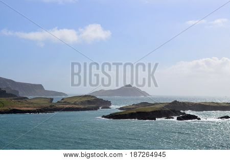A scenic look at Ireland's Blasket Islands off the coast of Dingle.