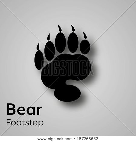 Bear footstep vector clip art foot print  symbol