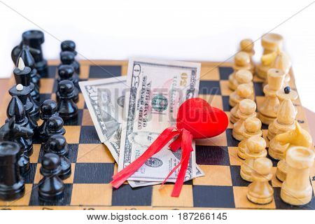 Love money power triangle with chess opponents