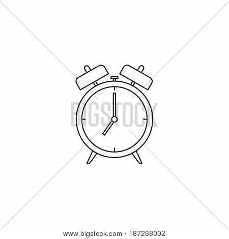 Alarm clock icon vector showing 7 am
