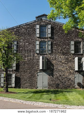 Bourbon Barrel Warehouse at Distillery along Bourbon Trail
