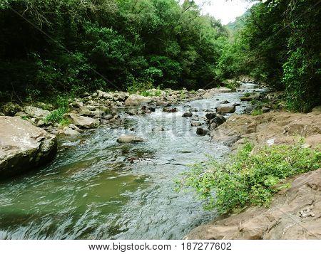Course of the small river Santa Clara